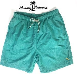 Tommy Bahama Relax Swim Trunks Board Shorts Teal